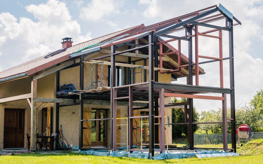Maison structure métal à Nancy
