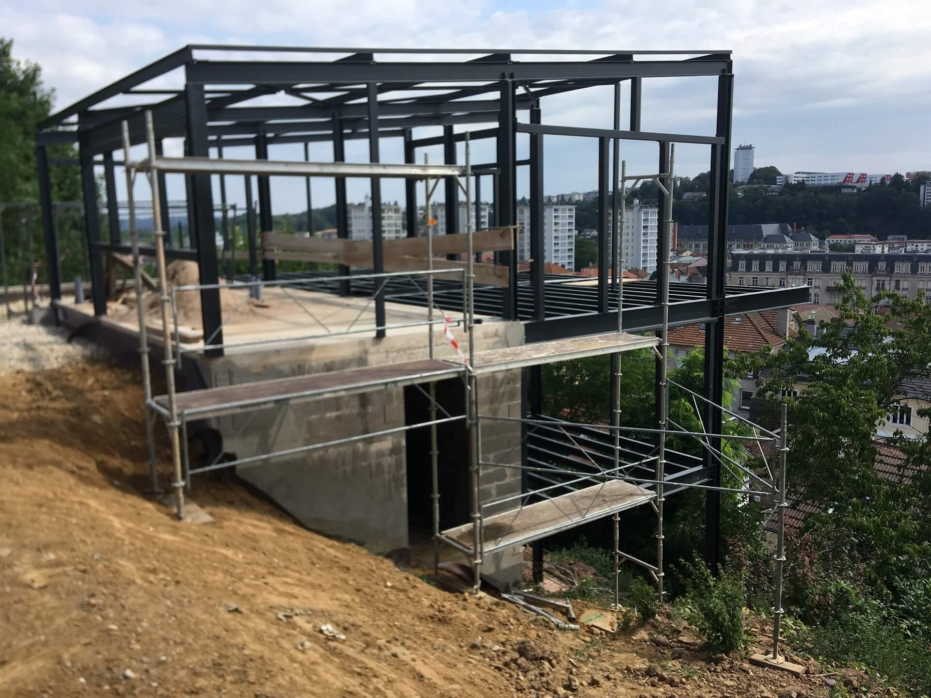 Bâtiment structure métallique à Nancy